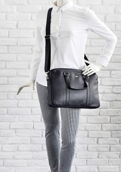 Skórzana torba damska na laptopa 13,3'' Daag Shaker 41 czarna