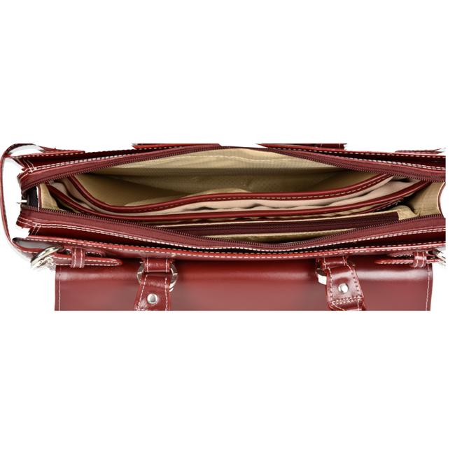 """Skórzana torba damska na laptopa 15,4"""" Mcklein Winnetka 94836 czerwona"""