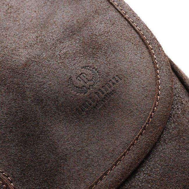 Skórzana torba listonoszka damska vintage PAOLO PERUZZI GA301 c.brązowa