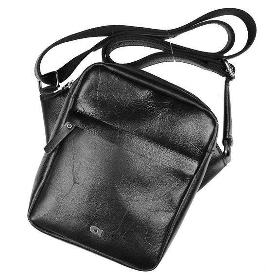 Skórzana torba męska crossbody Jazzy Party 81 czarna