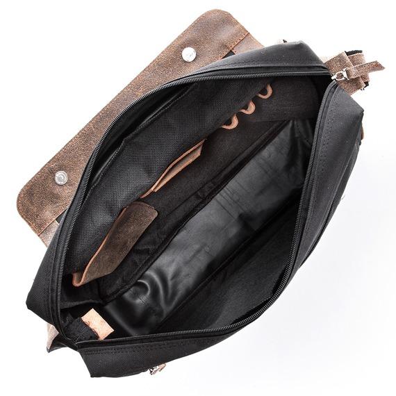 Skórzana torba męska listonoszka ciemnobrązowa PAOLO PERUZZI