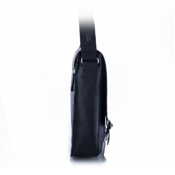 Skórzana torba męska na ramię BALEINE S3 czarna