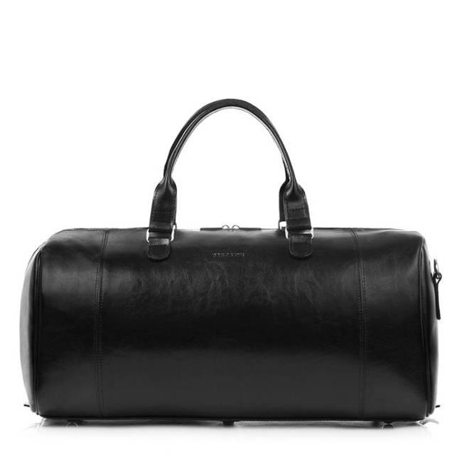 Skórzana torba męska podróżna Brodrene R30 czarna