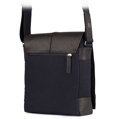 Skórzana torba męska raportówka BRODRENE ML17 czarna