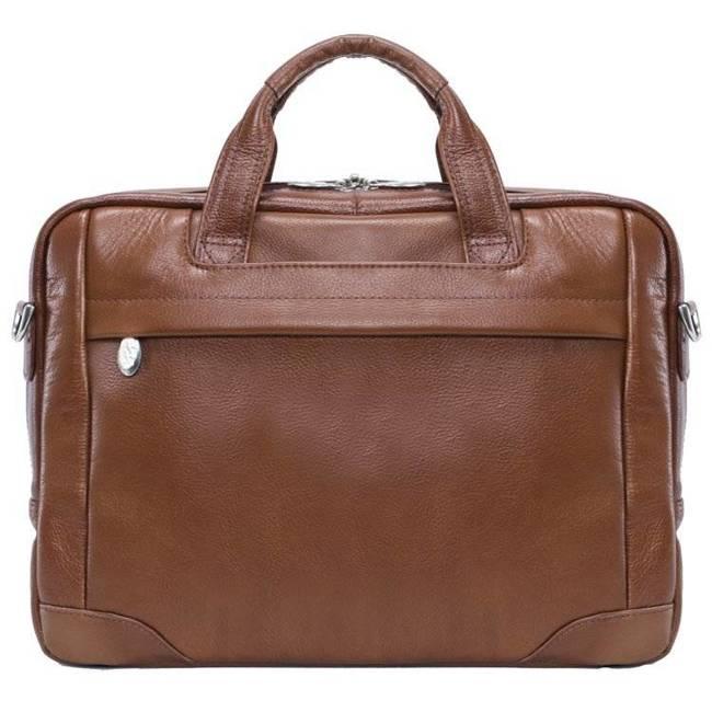 """Skórzana torba na laptopa 15,4"""" Mcklein Bronzeville 15484M brązowa"""