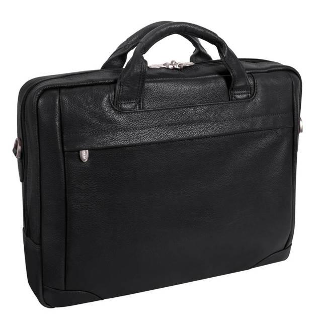 "Skórzana torba na laptopa 17"" Mcklein Bridgeport 15475L czarna"