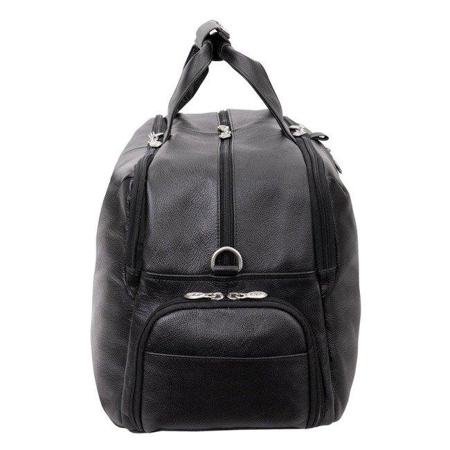 "Skórzana torba na laptopa McKlein Avondale 17"" czarna"