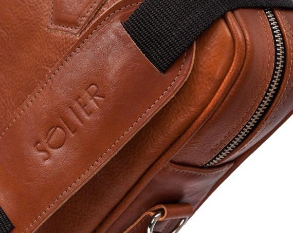 Skórzana torba na laptopa Solier SL22 brązowy vintage