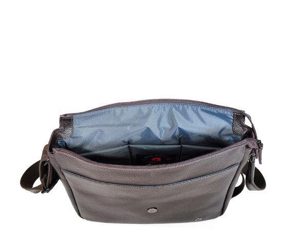 Skórzana torba na laptopa unisex Daag Shaker 34 brąz