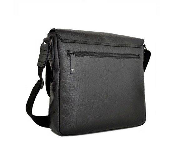 Skórzana torba na ramię 2JUS by DAAG Stone 2 czarna