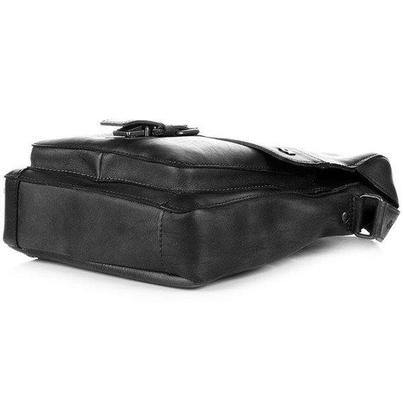 Skórzana torba na ramię unisex DAAG ALIVE 14 czarna