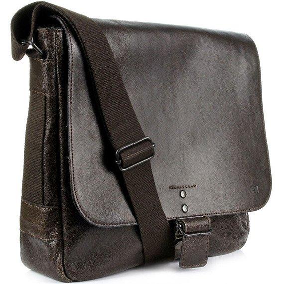 Skórzana torba na ramię unisex DAAG Jazzy Run 2 ciemnobrązowa
