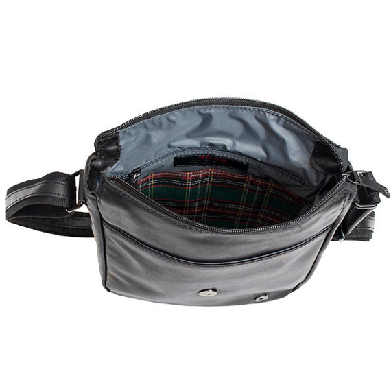 Skórzana torba na ramię unisex Daag Albedo 8 czarna