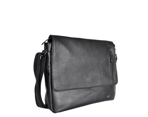 Skórzana torba na ramię unisex Daag Shaker 30 czarna