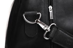 Skórzana torba podróżna BRODRENE BL10 czarna