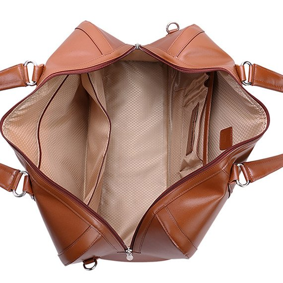 Skórzana torba podróżna McKlein Kinzie 88194 brązowa