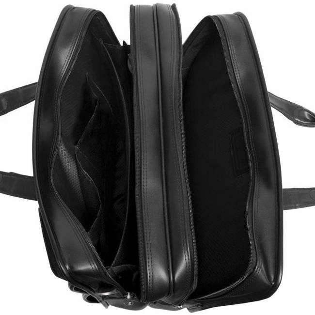 Skórzana torba podróżna na laptopa z odpinanym wózkiem Mcklein Clinton 88445