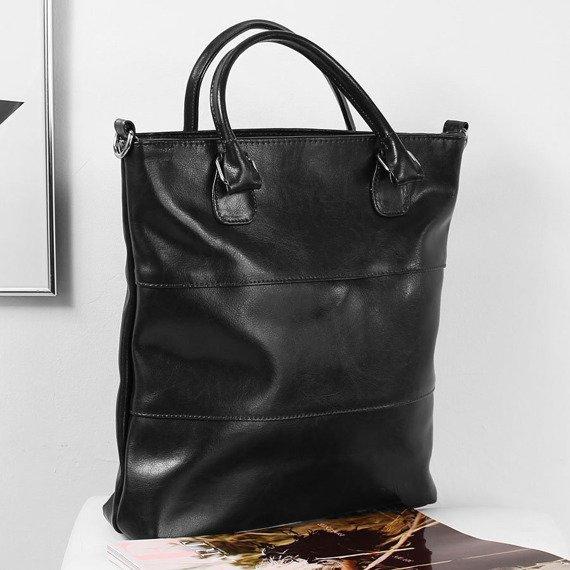 Skórzana torebka DAN-A T393 czarna
