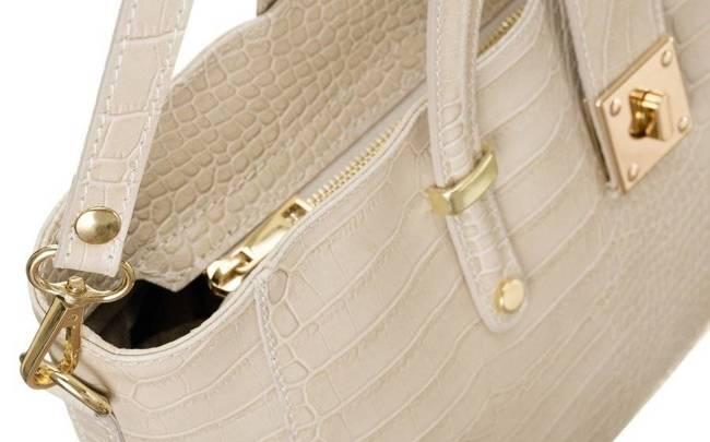 Skórzana torebka damska beżowa Badura T_D213BE_CD
