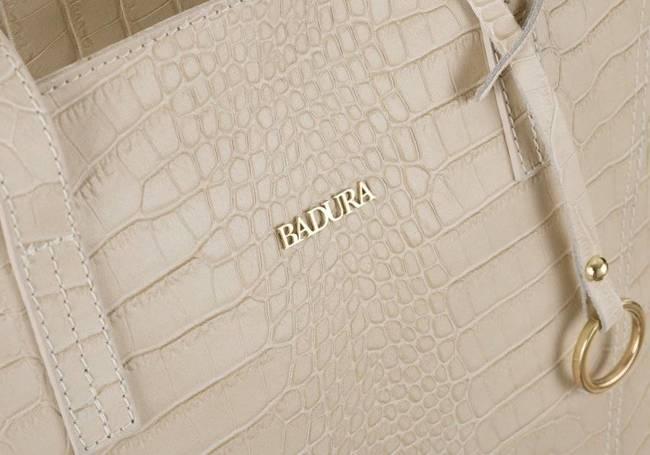 Skórzana torebka damska beżowa Badura T_D215BE_CD