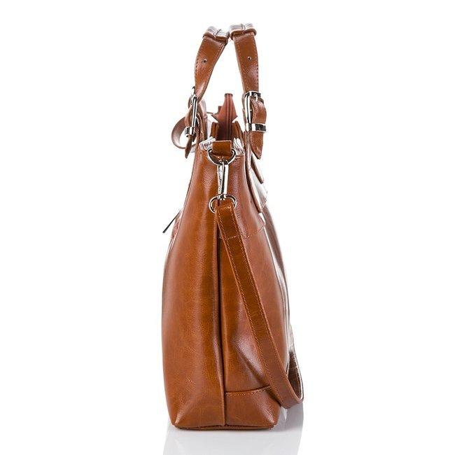 Skórzana torebka damska czarna PAOLO PERUZZI GA309