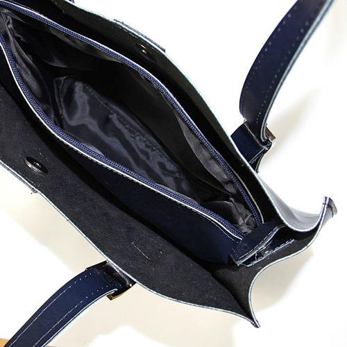 Skórzana torebka damska granatowa DAN-A T353