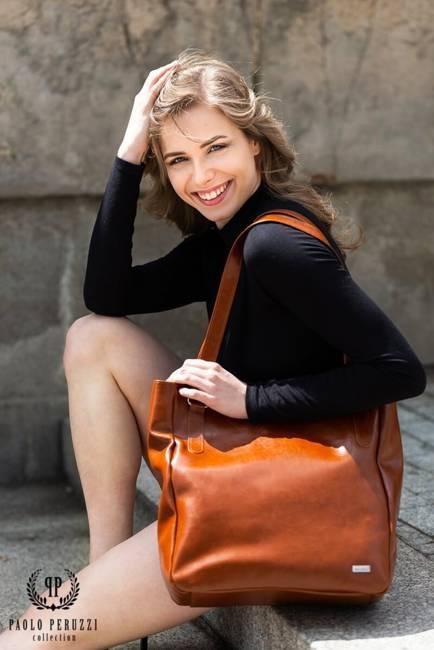 Skórzana torebka damska j.brązowa PAOLO PERUZZI GA317