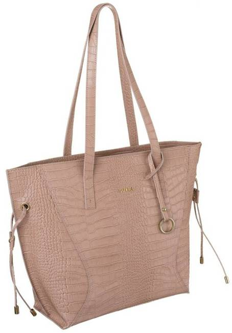 Skórzana torebka damska różowa Badura T_D215RO_CD