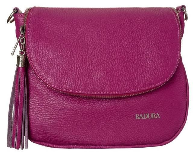 Skórzana torebka damska różowa Badura T_D217RO_CD