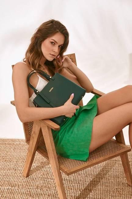 Skórzana torebka damska zielona Badura T_D211ZIE_CD