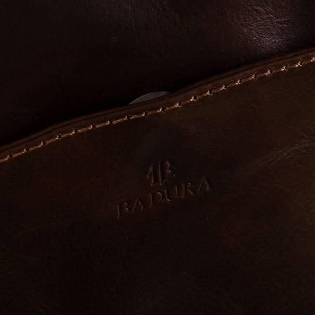 Skórzana torebka listonoszka brązowa Badura T_D194BR_CD