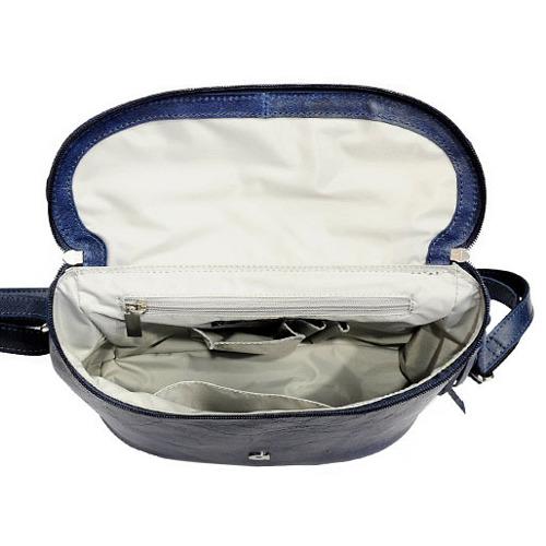 Skórzana torebka listonoszka granatowa DAAG FUNKY GO! 30