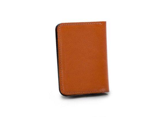 Skórzany cienki portfel męski z bilonówką SOLIER SW16A SLIM jasny brąz