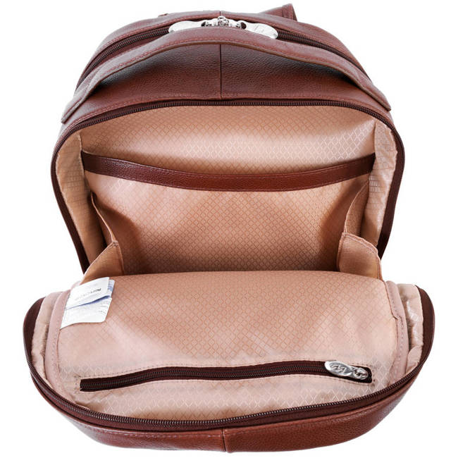 Skórzany męski plecak na laptopa MCKLEIN Parker 88554 brązowy