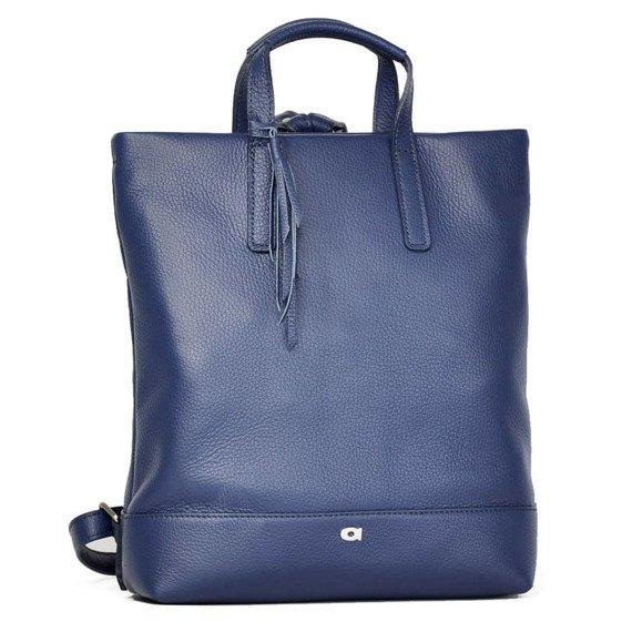 Skórzany plecak damski DAAG Native 22 niebieski