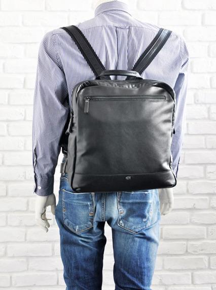 Skórzany plecak na laptopa unisex Daag Albedo 3 czarny