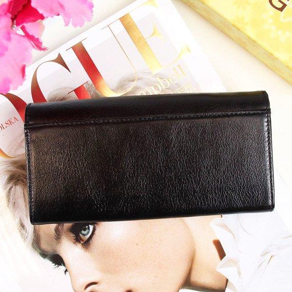 Skórzany portfel damski KRENIG Classic 12091 czarny w pudełku