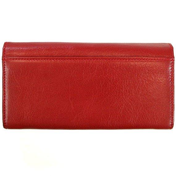 Skórzany portfel damski KRENIG Classic 12091 czerwony