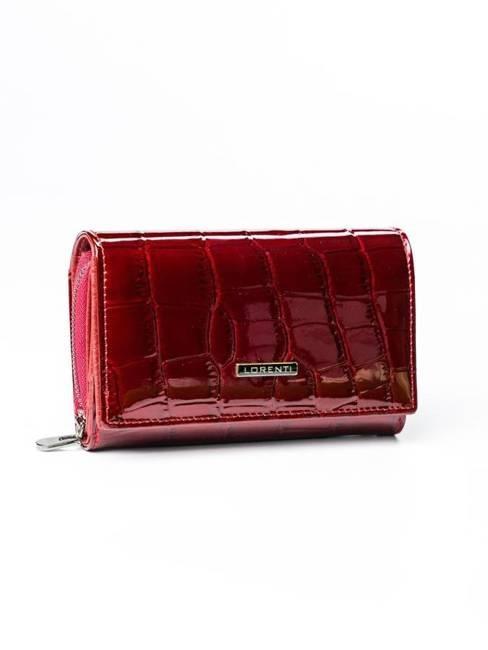 Skórzany portfel damski czerwony Lorenti 76112
