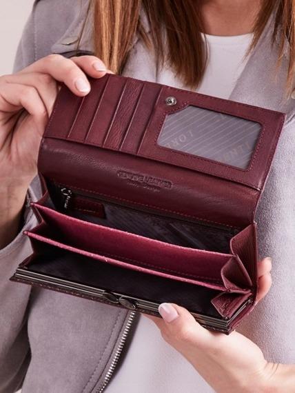 Skórzany portfel damski fioletowy Lorenti 72401