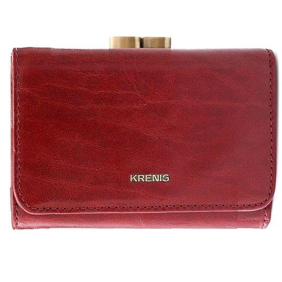 Skórzany portfel damski w pudełku KRENIG El Dorado 11009 czerwony