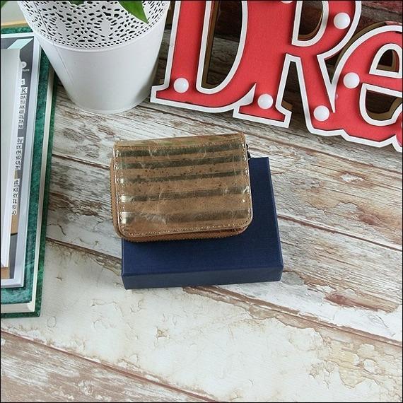 Skórzany portfel damski złoty Forever Young 5157