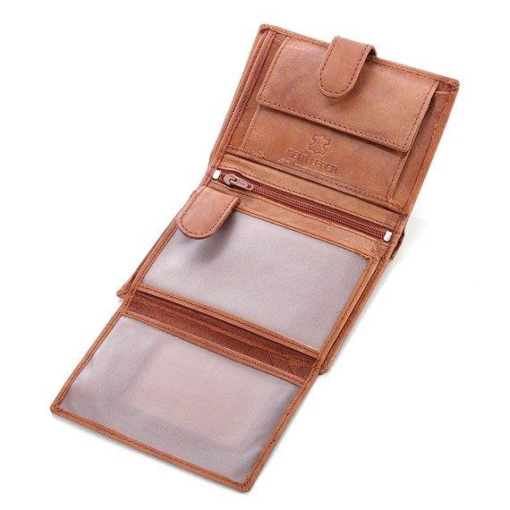 Skórzany portfel męski Bag Street GA185 brązowy