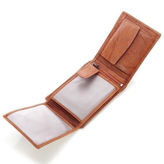 Skórzany portfel męski Bag Street GA189 brązowy
