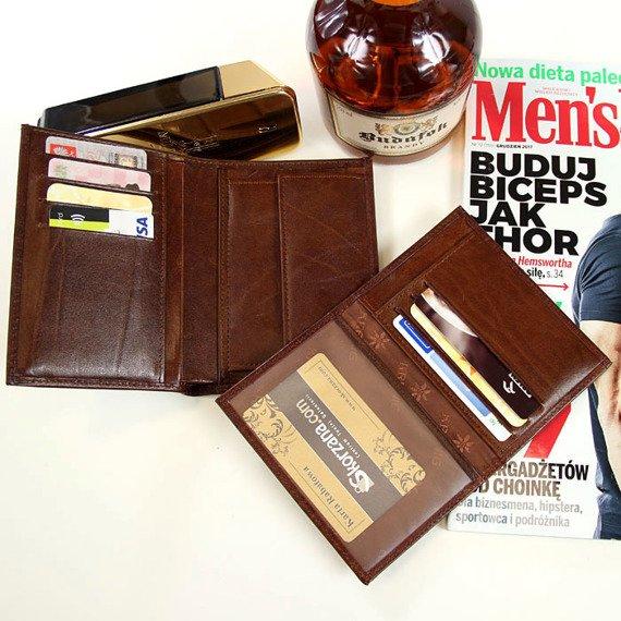 Skórzany portfel męski KRENIG El Dorado 11001 brązowy