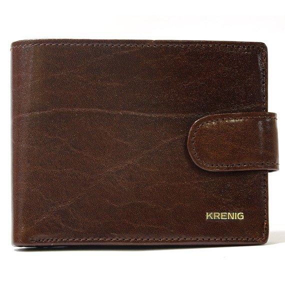 Skórzany portfel męski KRENIG El Dorado 11080 brązowy