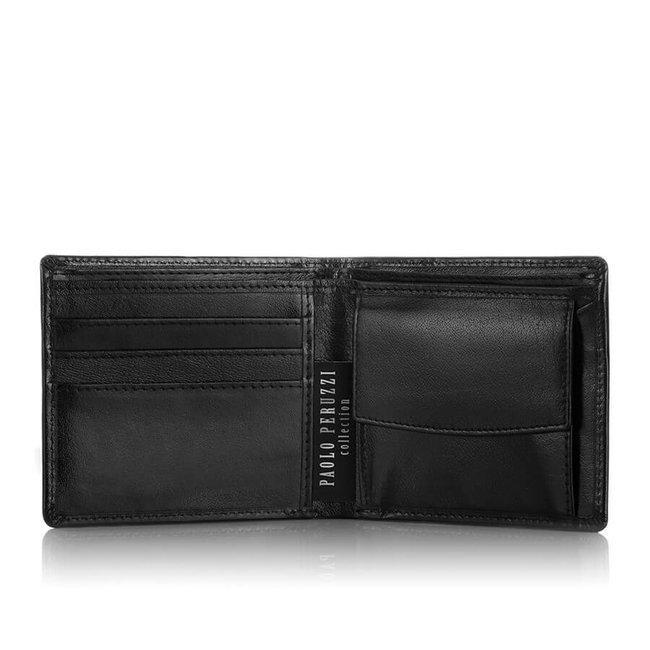 Skórzany portfel męski czarny Paolo Peruzzi S-17-BL