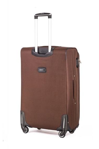 Średnia walizka miękka M Solier STL1706 brązowa