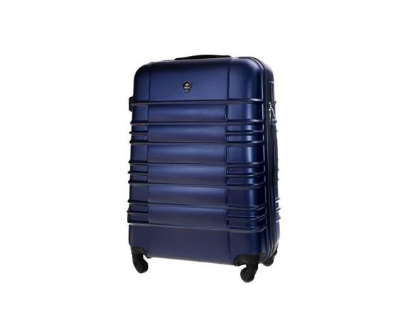 Średnia walizka podróżna STL838 granatowa