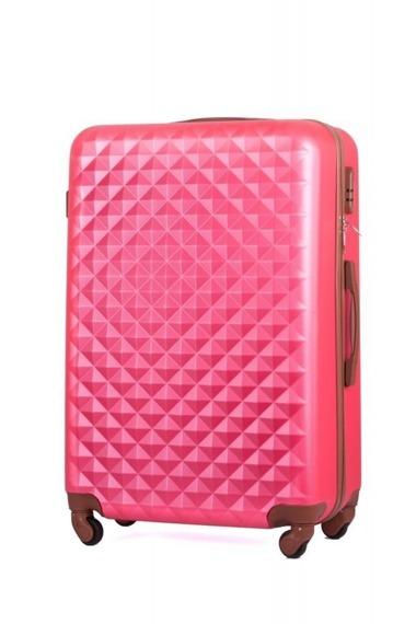 Średnia walizka podróżna stl190 różowa